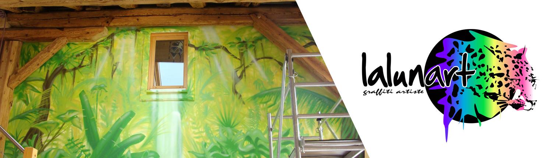 Graffiti décoration intérieur avec Lalunart